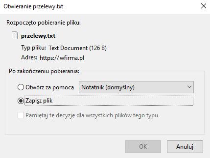 Eksport Przelewow Do Banku W Systemie Wfirma Pl Jak Go Wykonac