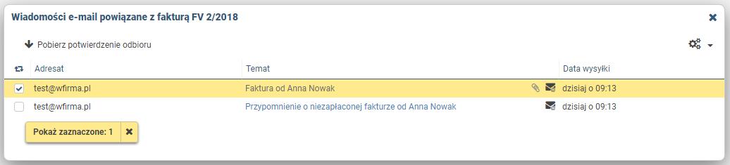 07902f38a4db4c Podgląd treści wysłanych wiadomości - Pomoc wFirma.pl